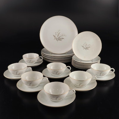 "Kaysons ""Golden Rhapsody"" Fine China Dinnerware, 1961"