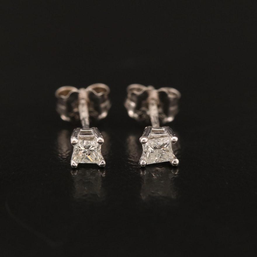 14K 0.19 CTW Diamond Stud Earrings