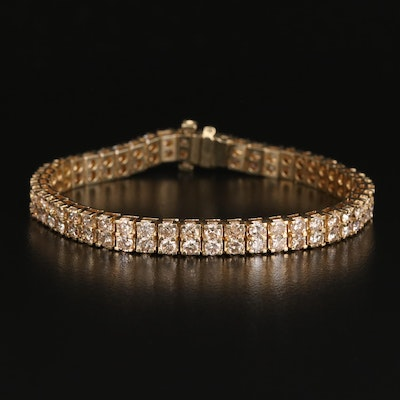 14K 9.90 CTW Diamond Double Row Bracelet