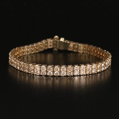 14K 9.90 CTW Diamond Double Row Bracelet