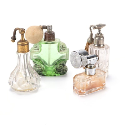 Marcel Franck Escale Mount and Other Crystal and Glass Perfume Bottles