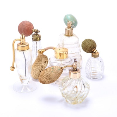 Glass Perfume Bottles Including DeVilbiss, Early 20th Century