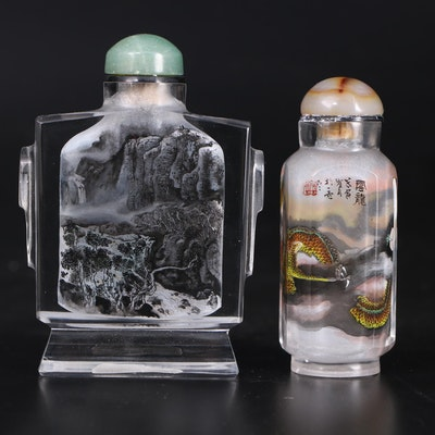 Chinese Reverse Painted Snuff Bottles, Early to Mid 20th Century