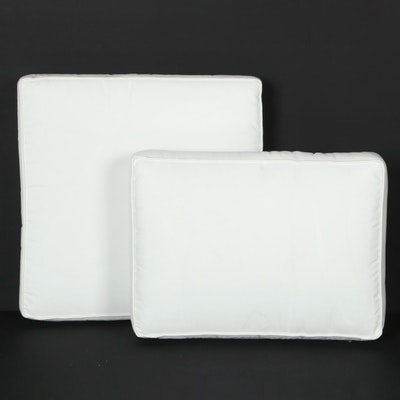 Set of White Outdoor Chair Cushions