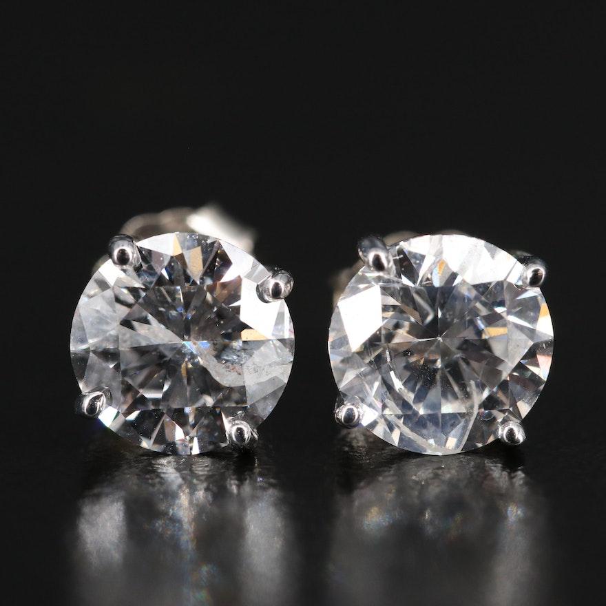 14K 2.75 CTW Diamond Stud Earrings