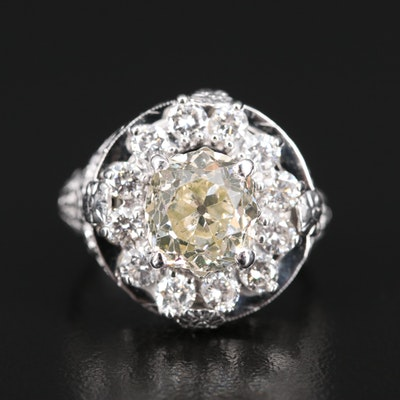 14K 3.17 CTW Diamond Openwork Ring