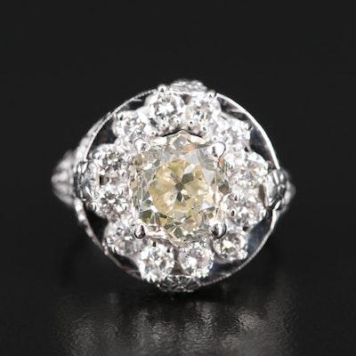 14K 3.17 CTW Diamond Openwork Ring