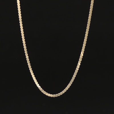 14K Serpentine Link Necklace