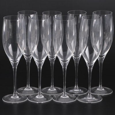 Riedel Crystal Champagne Flutes, Mid to Late 20th Century
