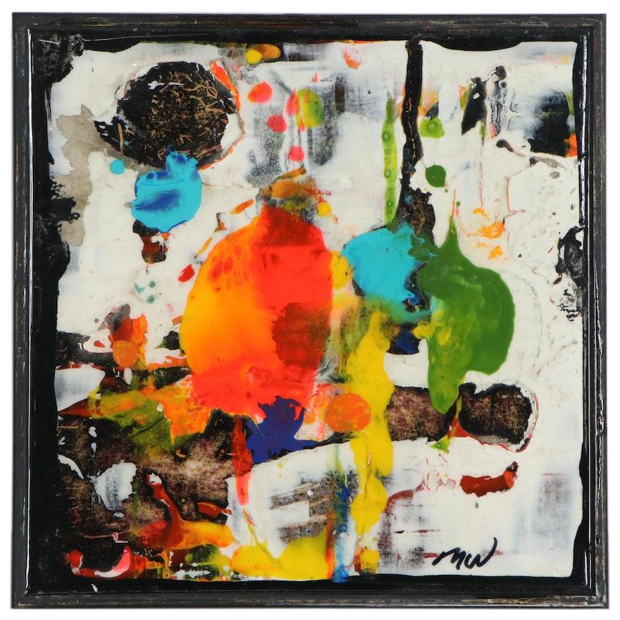 "Mark Whitmarsh Acrylic Painting ""Divine Garden #334,"" 21st Century"