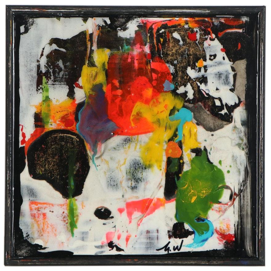 "Mark Whitmarsh Acrylic Painting ""Divine Garden #333,"" 21st Century"