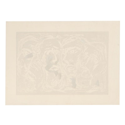"Arthur Helwig Embossed Lithograph ""Matthew, Mark, Luke, John"""