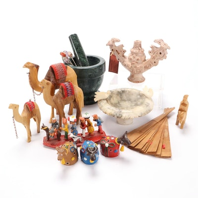 Souvenirs and Cultural Collectibles from Mexico, Middle East, and More, 20th C.