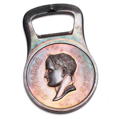 Christofle Silver Plate Emperor Napoleon Bottle Opener