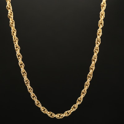 Speidel 14K Rope Chain Necklace