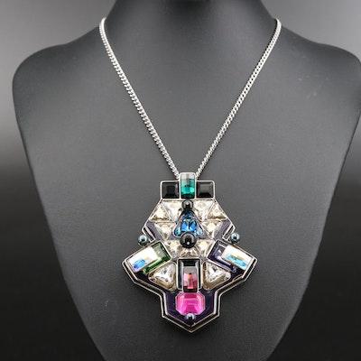 """Swarovski Crystal """"Buzz"""" Multicolor Necklace"""