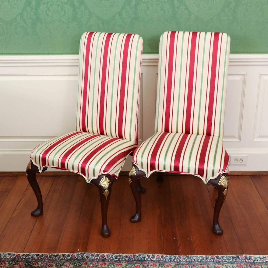 Pair of Williamsburg Restoration Queen Anne Side Chairs