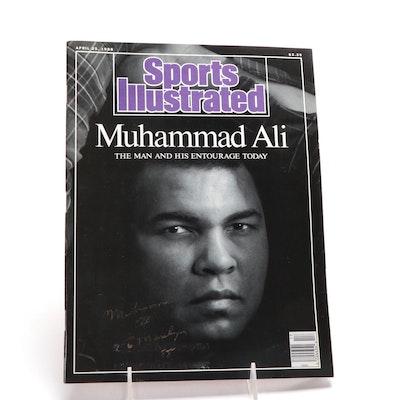 Muhammad Ali Autographed Sports Illustrated 1988 Cover, Visual COA