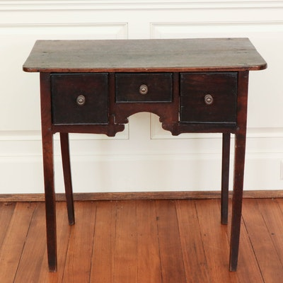 Early American Oak Lowboy, 18th Century