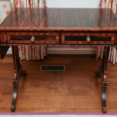 Regency Calamander and Tulipwood Sofa Table, Early 19th Century