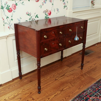 Federal Flame Mahogany Sideboard, Probably Boston, Early 19th Century