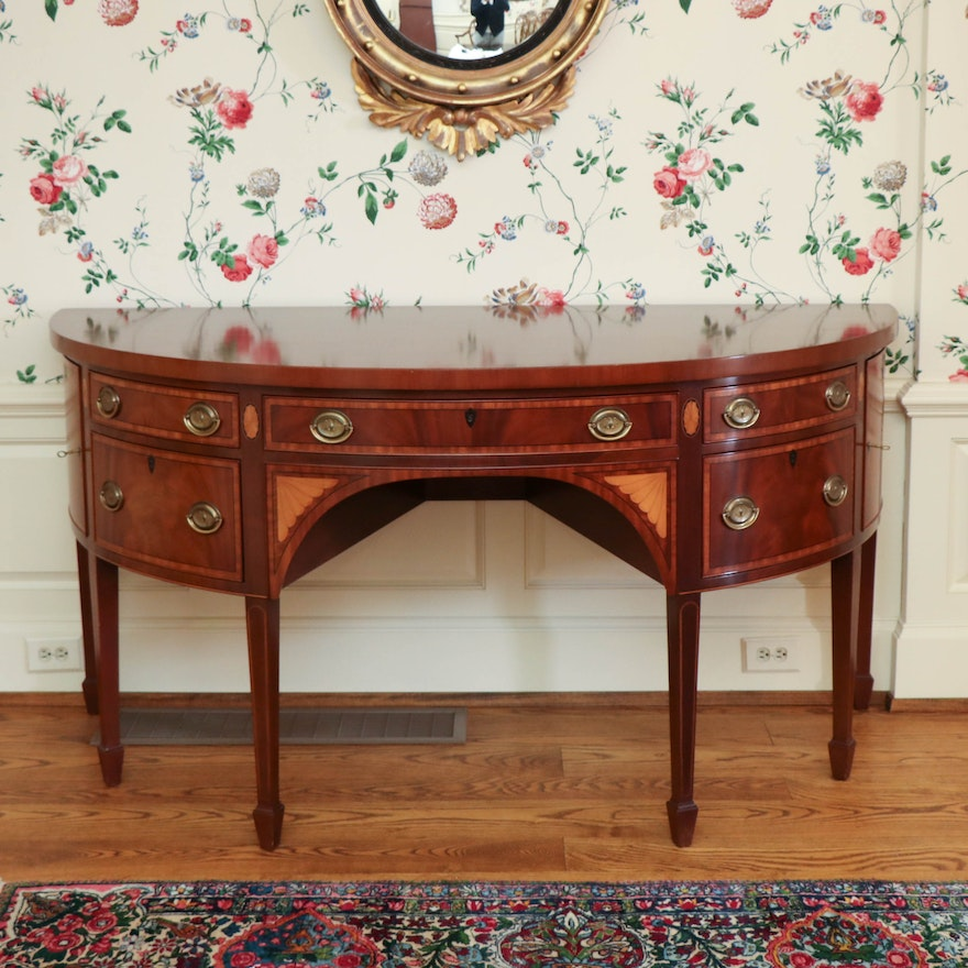 Kittinger Federal Style Mahogany Sideboard with Satinwood Inlay, 20th Century