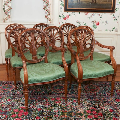 George III Style Walnut Dining Chairs