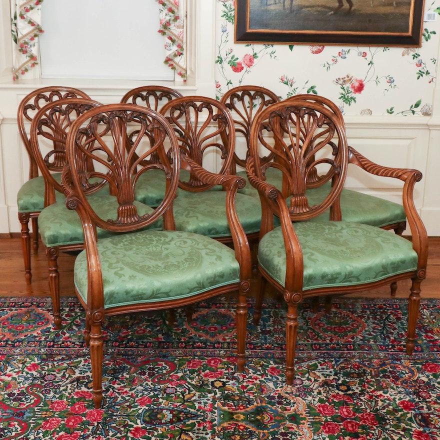 George III Style Walnut Dining Chairs