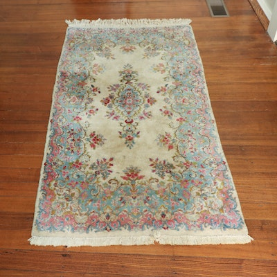 3' x 5'7 Hand-Knotted Indo-Persian Kerman Wool Rug