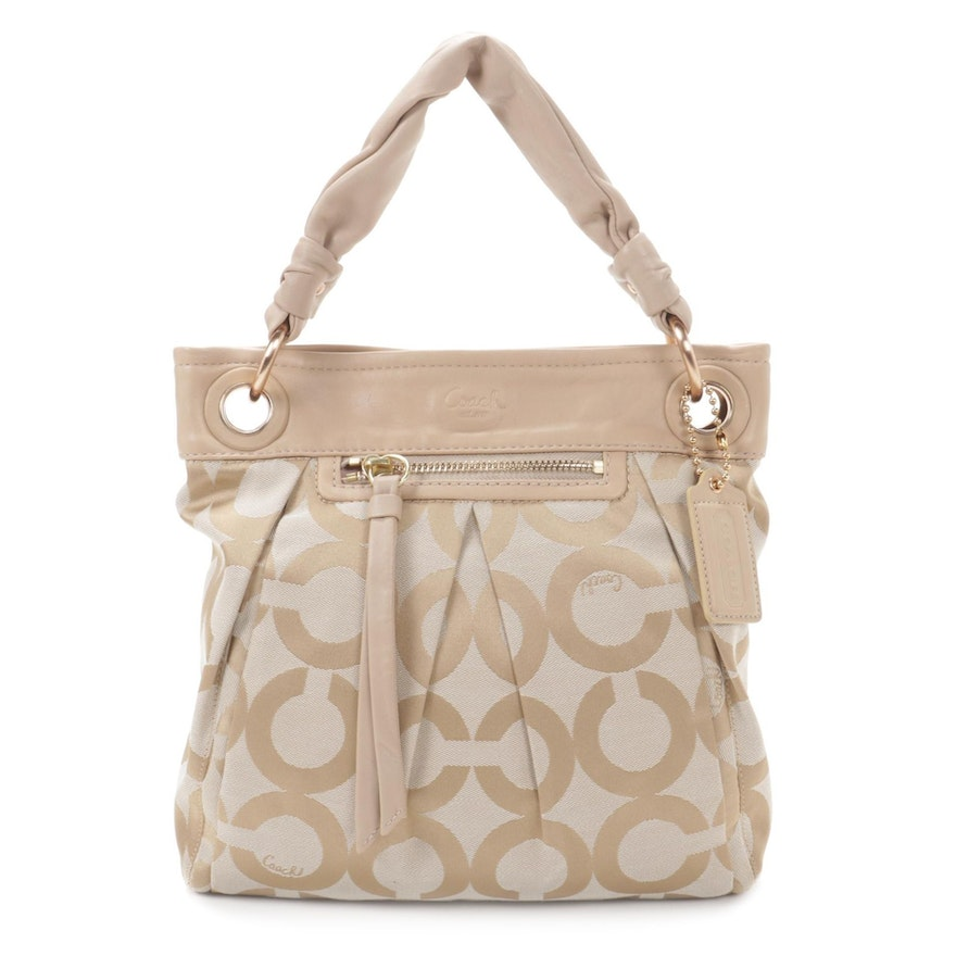 Coach Parker Op Art Hobo Bag with Leather Trim