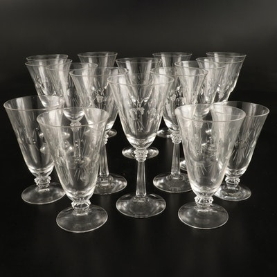 """Fostoria """"Beacon"""" Water Goblets and Iced Tea Glases, 1937–1954"""