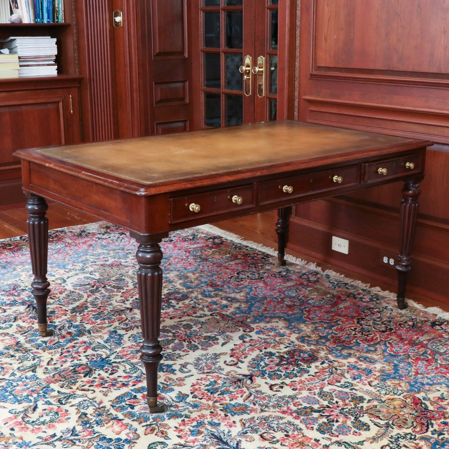 William IV Mahogany Library Table, Early to Mid 19th Century