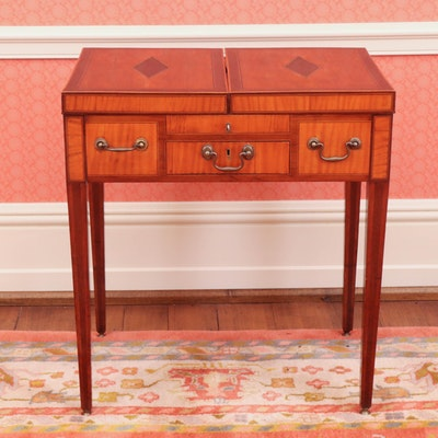 Anglo-Dutch Mahogany and Oak Dressing Table, 19th Century