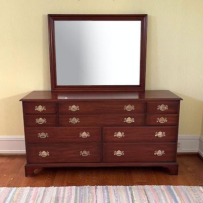 Henkel-Harris Wild Black Cherry Dresser with Mirror, 20th Century