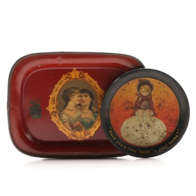 Fairy Soap Advertising and a Pictorial Tin Tip Trays, Late 19th/ Early 20th C.