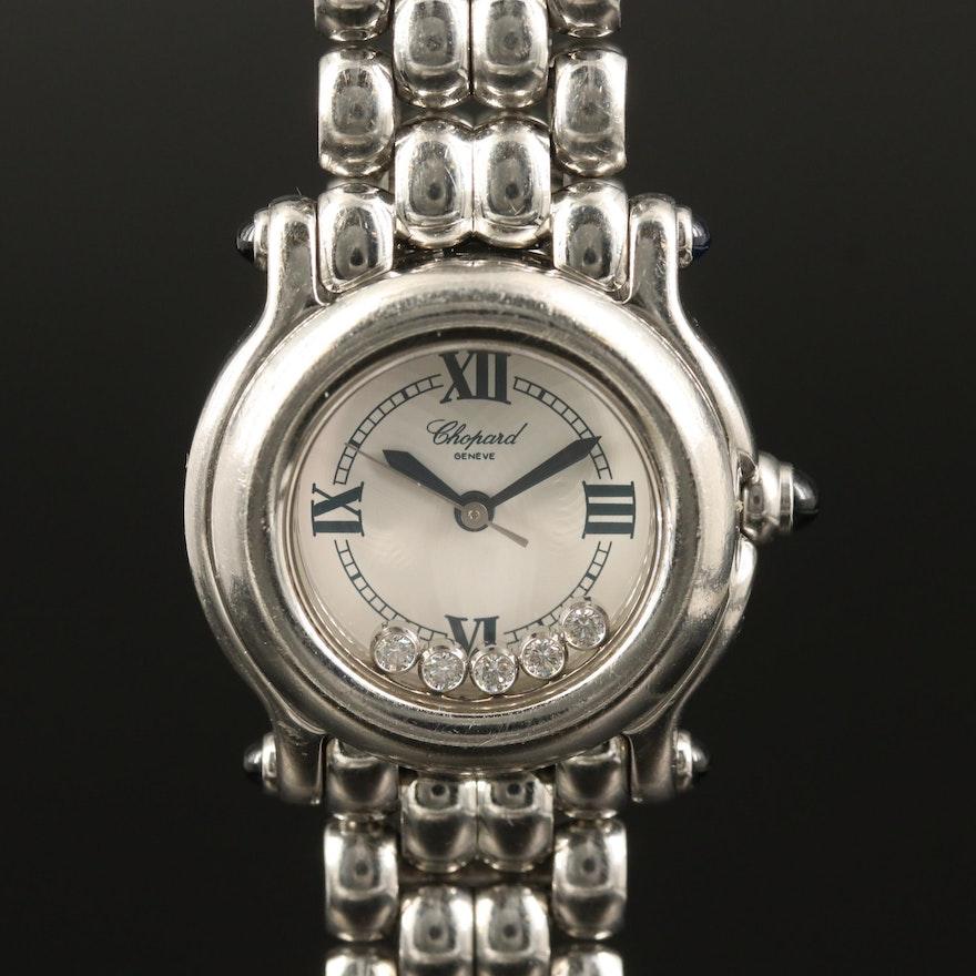 Chopard Happy Sport Diamond and Stainless Steel Quartz Wristwatch