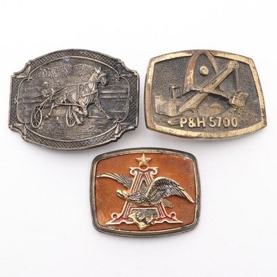 Award Design Medals Inc. Brass Belt Buckle and Other Belt Buckles