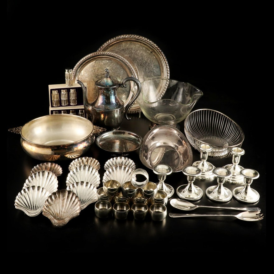 Wm Rogers, Gorham, and More Silver Plate Tableware, Mid to Late 20th Century