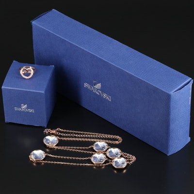 Swarovski Jewelry Featuring Globe Strandage Necklace and Cupidon Ring