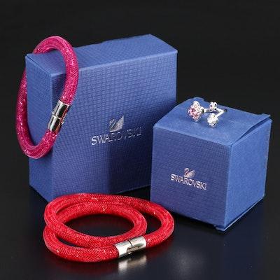 Swarovski Stardust Bracelets and Cherie Open Top Ring