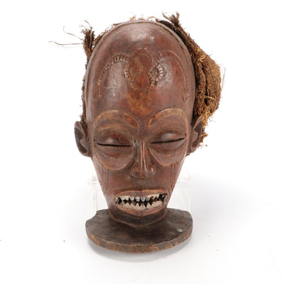 "Chokwe Style ""Chihongo"" Wooden Mask, Central Africa"