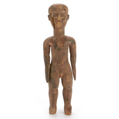Kongo Style Hand-Carved Wooden Figure, Central Africa