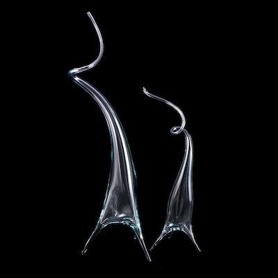 """Darren Goodman Hand-Blown Glass Sculptures from """"Fantasia"""" Series, 2020"""