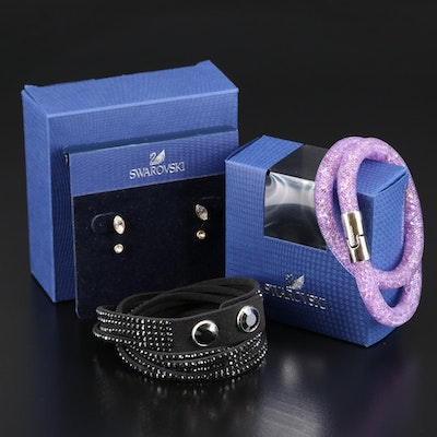 "Swarovski Featuring ""Stardust"" and Suede Wrap Bracelets"
