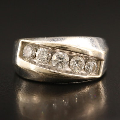 14K Diamond Five Stone Ring