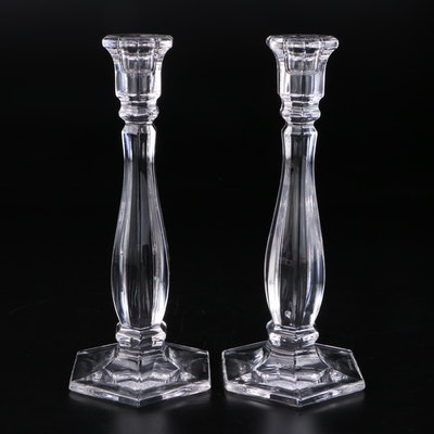 "Pair of Tiffany & Co. Crystal ""Richmond"" Candlesticks"