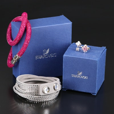 "Swarovski Jewelry Featuring ""Stardust"" and Suede Wrap Bracelets"