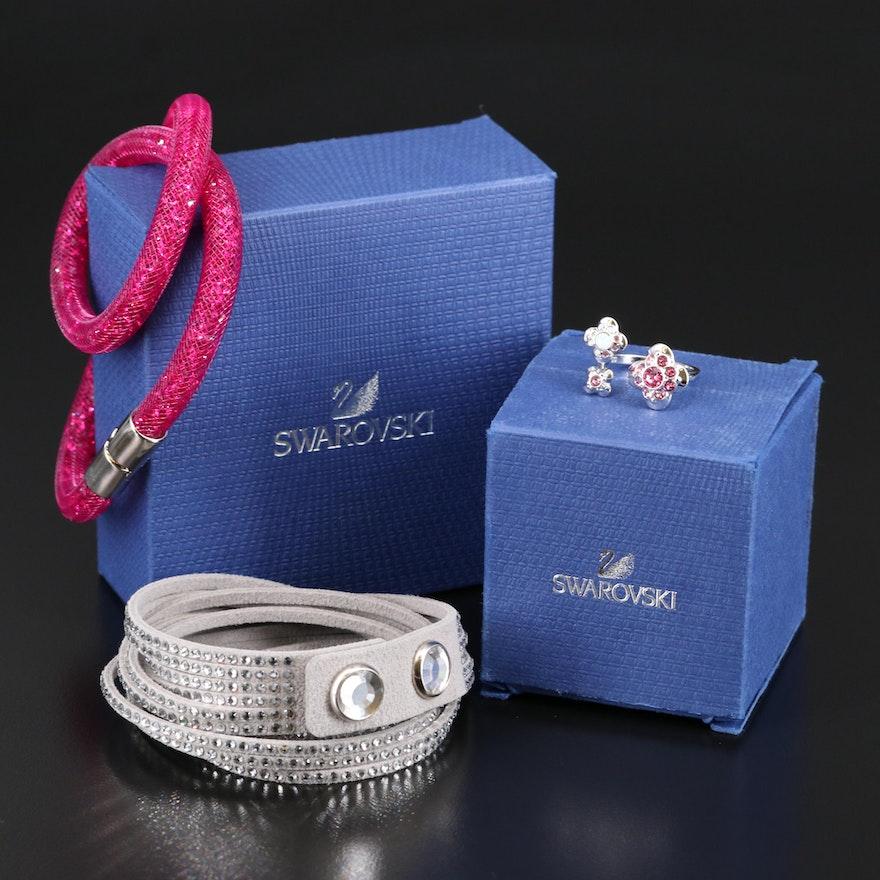 """Swarovski Jewelry Featuring """"Stardust"""" and Suede Wrap Bracelets"""