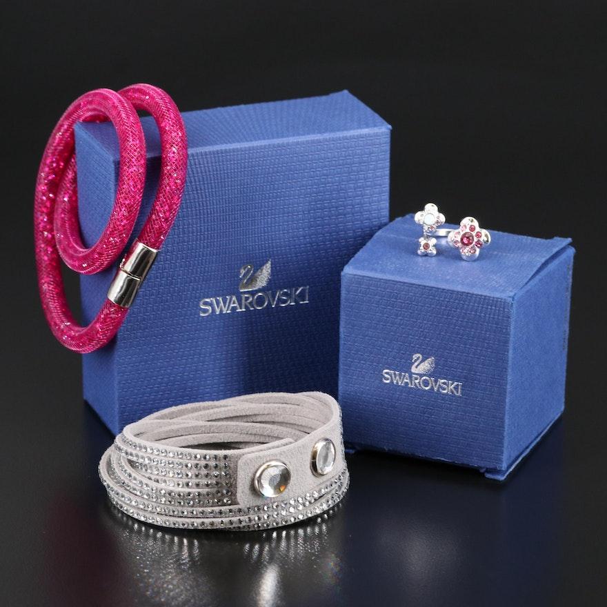 Swarovski Jewelry Featuring Stardust and Suede Wrap Bracelets