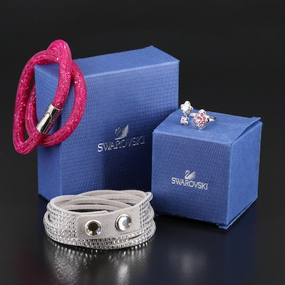 Swarovski Assortment Featuring Stardust and Suede Bracelets